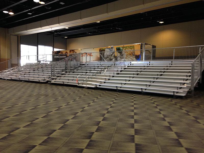 Bleacher Rentals for Indoor Events